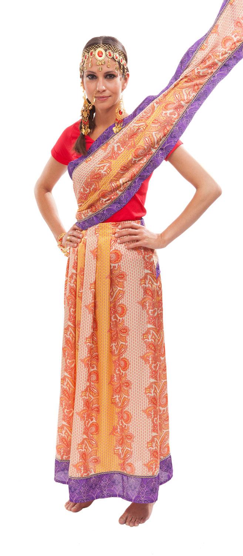 styling tipp sari umlegen. Black Bedroom Furniture Sets. Home Design Ideas
