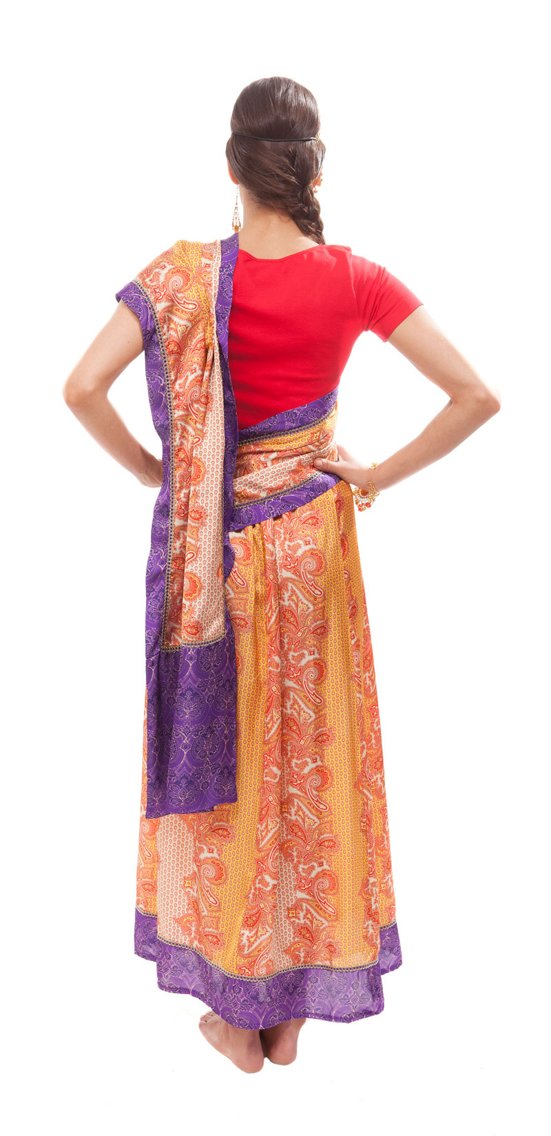 Styling Tipp Sari Umlegen