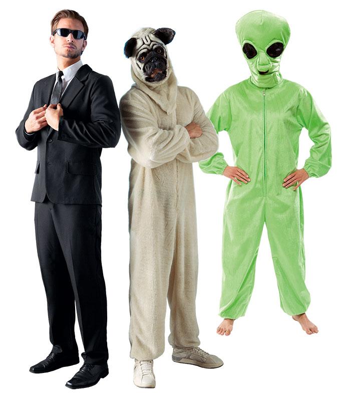 Faschingskostüm Mops, Agent und Alien