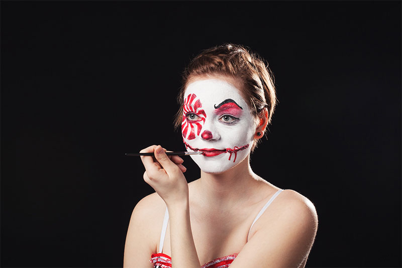 Halloween Schmink Tutorial Creepy Clown