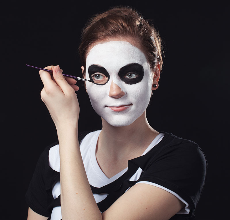 Halloween Schminkanleitung Skelett