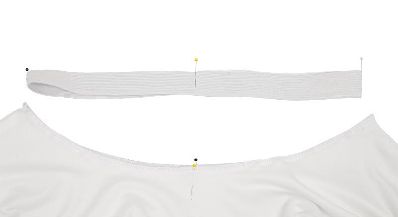 Zahnfee Kostüm nähen - Gummibund am Tellerrock einteilen