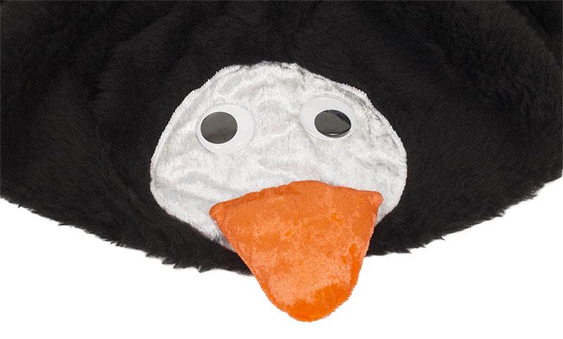 Pinguin Kostüm nähen - Gesicht