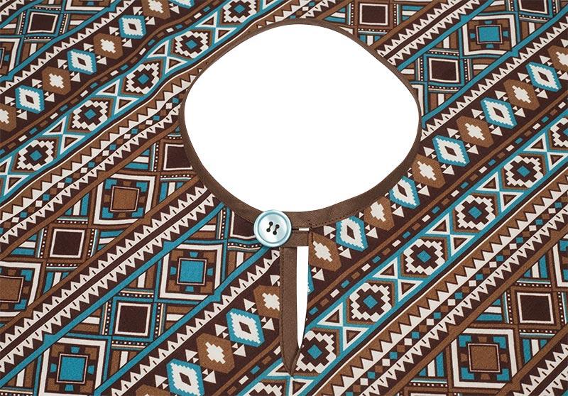 Indianer Kostüm - Poncho nähen - Knopf annähen