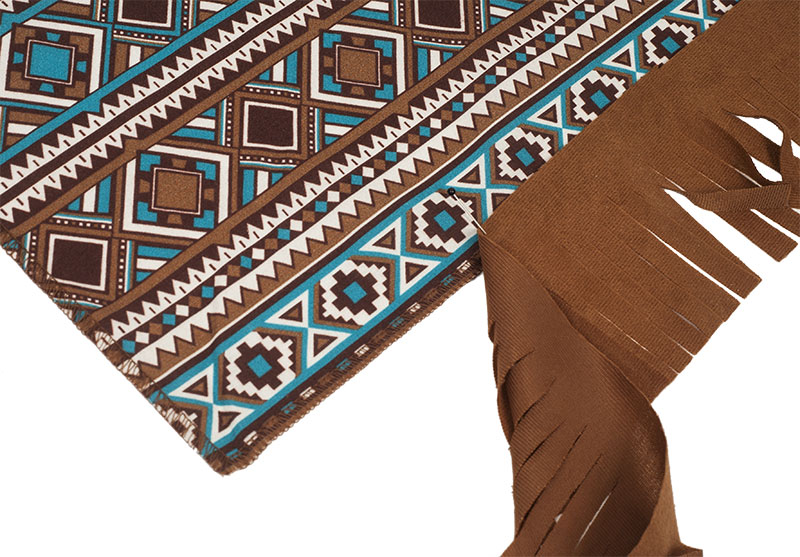 Indianer Kostüm - Poncho nähen - Fransen anbringen