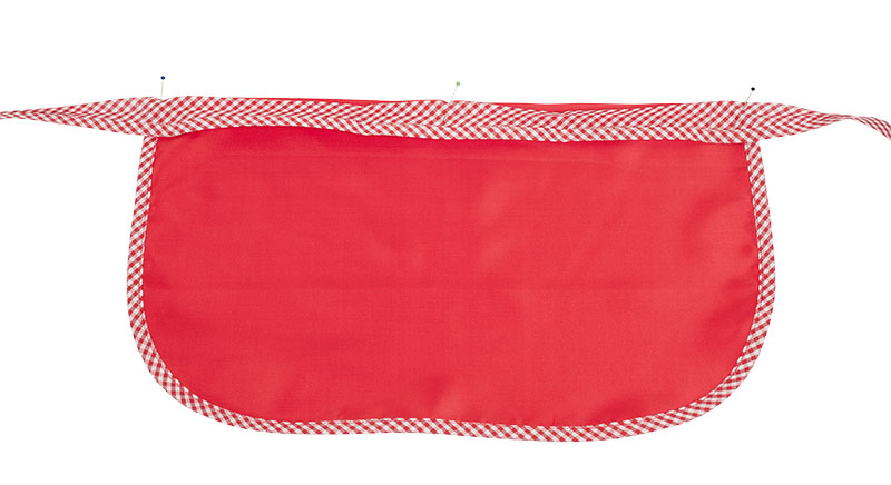 Rotkäppchen Kostüm - Schürze nähen - Schleife feststecken