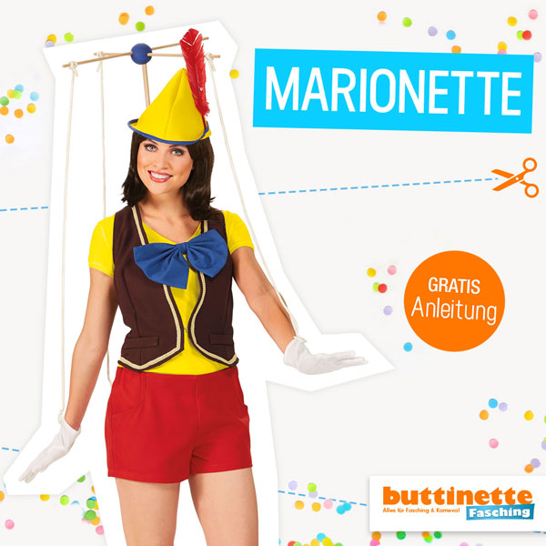 Kostüm Marionette nähen