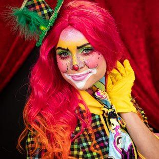 Clown schminken