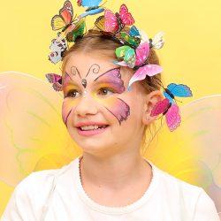Schmetterling schminken